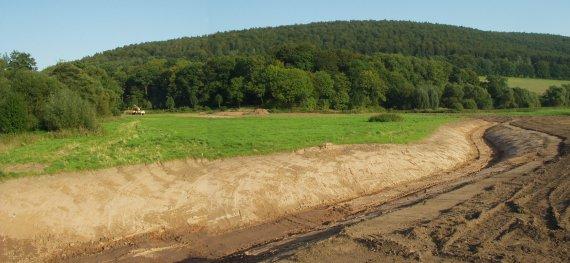 Übersicht des neuen, naturnahen Mündungsbereiches der Nieme.